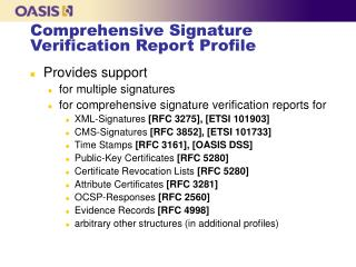 Comprehensive Signature Verification Report Profile