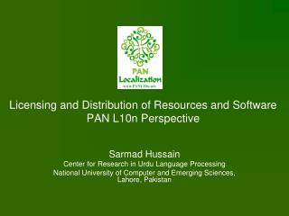 Licensing and Distribution of Resources and Software PAN L10n Perspective