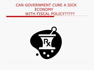 CAN GOVERNMENT CURE A SICK                          			ECONOMY 		WITH FISCAL POLICY?????