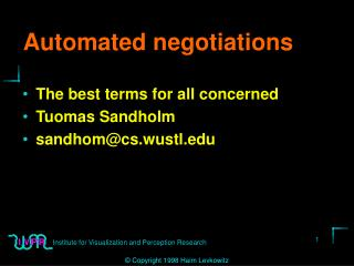 Automated negotiations