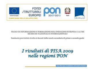 Obiettivi PON Istruzione 2007-2013