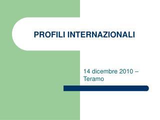 PROFILI INTERNAZIONALI