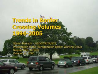 Trends in Border  Crossing Volumes  1994-2005