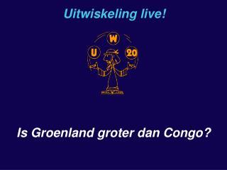 Is Groenland groter dan Congo?