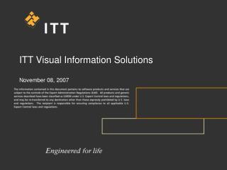 ITT Visual Information Solutions  November 08, 2007