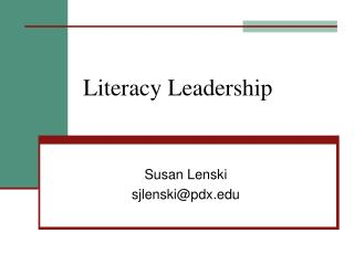 Literacy Leadership