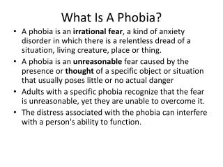 What Is A Phobia?