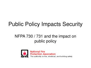 Public Policy Impacts Security