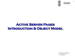 Active Server Pages Introduction & Object Model