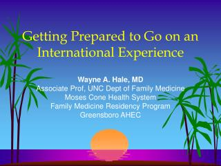 Getting Prepared to Go on an International Experience