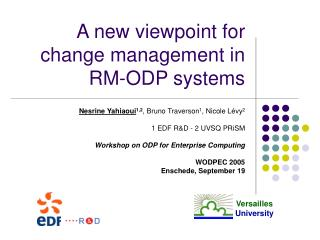 A new viewpoint for change management in RM-ODP systems