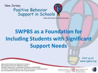 SWPBS as a Foundation for Including Students with Significant Support Needs