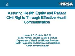 Assuring Health Equity and Patient Civil Rights Through Effective Health  Communication