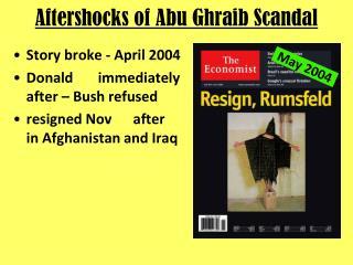 Aftershocks of Abu Ghraib Scandal