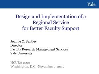 Design and Implementation of a Regional Service for Better Faculty Support