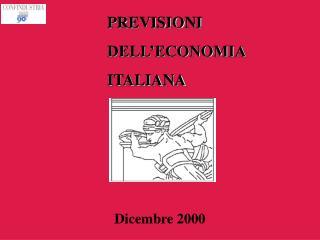 PREVISIONI  DELL'ECONOMIA  ITALIANA