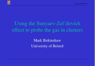 Using the Sunyaev-Zel'dovich effect to probe the gas in clusters