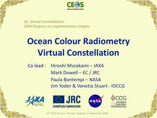 Ocean Colour Radiometry Virtual Constellation