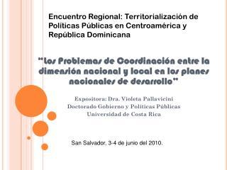 San Salvador, 3-4 de junio del 2010.
