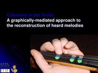 Colouring in the Violin: A graphically-mediated approach to  the reconstruction of heard melodies