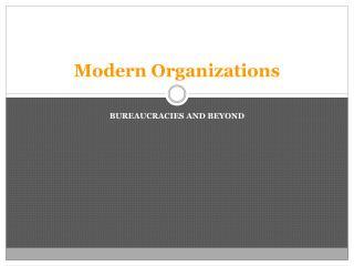Modern Organizations