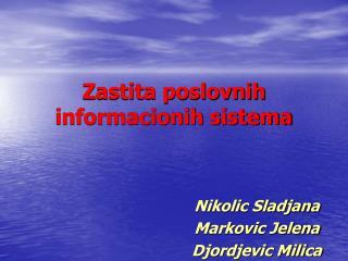 Zastita poslovnih informacionih sistema