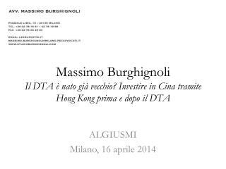 ALGIUSMI Milano, 16 aprile 2014