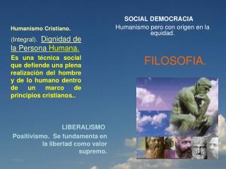 Humanismo Cristiano. (Integral).   Dignidad de la Persona  Humana.