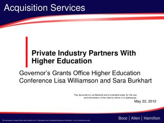 Private Industry Partners With Higher Education