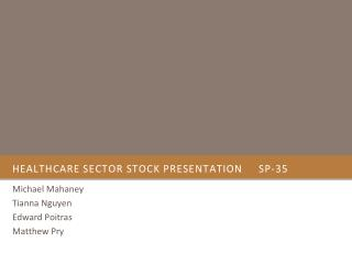 Healthcare sector stock presentation	SP-35