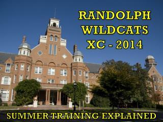 RANDOLPH WILDCATS XC - 2014