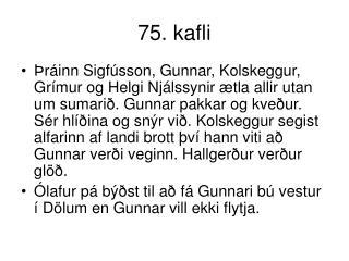 75. kafli