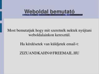 Weboldal bemutató