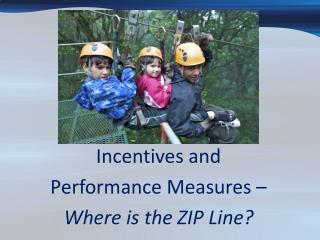 Incentives and  Performance Measures –  Where is the ZIP Line?