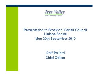 �Who� is TVRCC & our role Tees Valley Rural Community Council