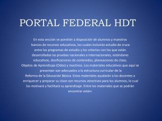 PORTAL FEDERAL HDT