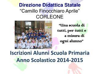 """Direzione Didattica Statale """"Camillo Finocchiaro Aprile"""" CORLEONE"""