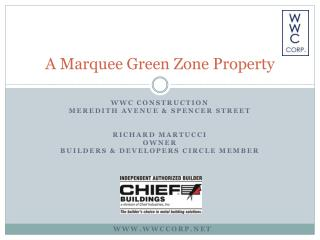 A Marquee Green Zone Property