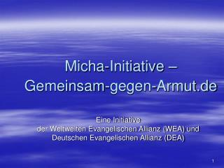 Micha-Initiative –  Gemeinsam-gegen-Armut.de