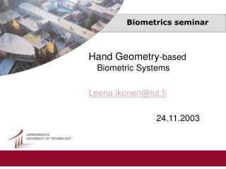 Biometrics seminar