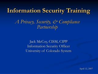 Information Security Training