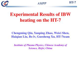 Experimental Results of IBW heating on the HT-7