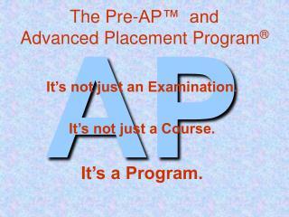 The Pre-AP