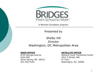 Presented by Shelby Hill Director Washington, DC Metropolitan Area