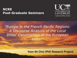 NCRE  Post-Graduate Seminars