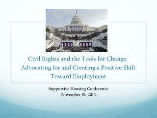 Supportive Housing Conference November 19, 2013