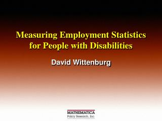 Measuring Employment Statistics for People with Disabilities