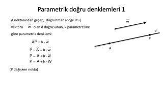 Parametrik do?ru denklemleri 1