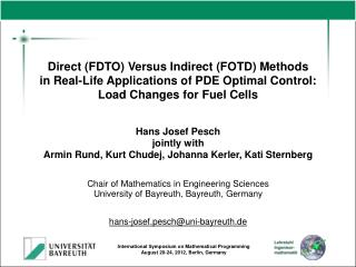 Direct (FDTO) Versus Indirect (FOTD) Methods in Real-Life Applications of PDE Optimal Control: