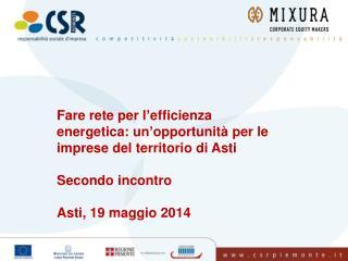 Fare rete per l'efficienza energetica: un'opportunità per le imprese del territorio di Asti